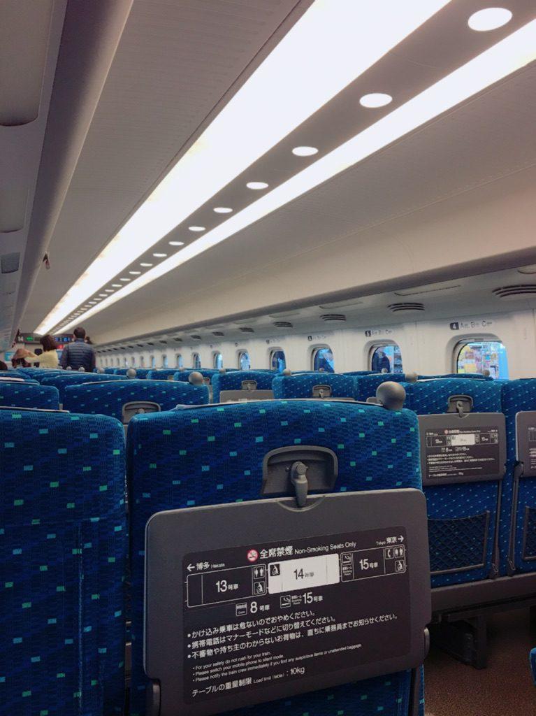 土曜日の新幹線
